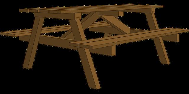שולחן קקל עם פרגולה